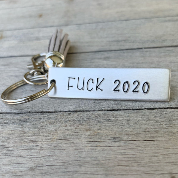 Key Chain - Small Rectangle -  Fuck 2020