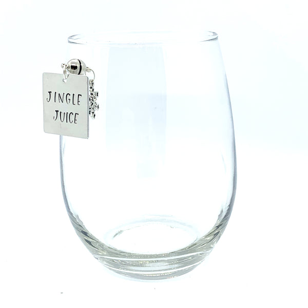 "Stemless Wine Charms - ""Jingle/Jolly"" Set"