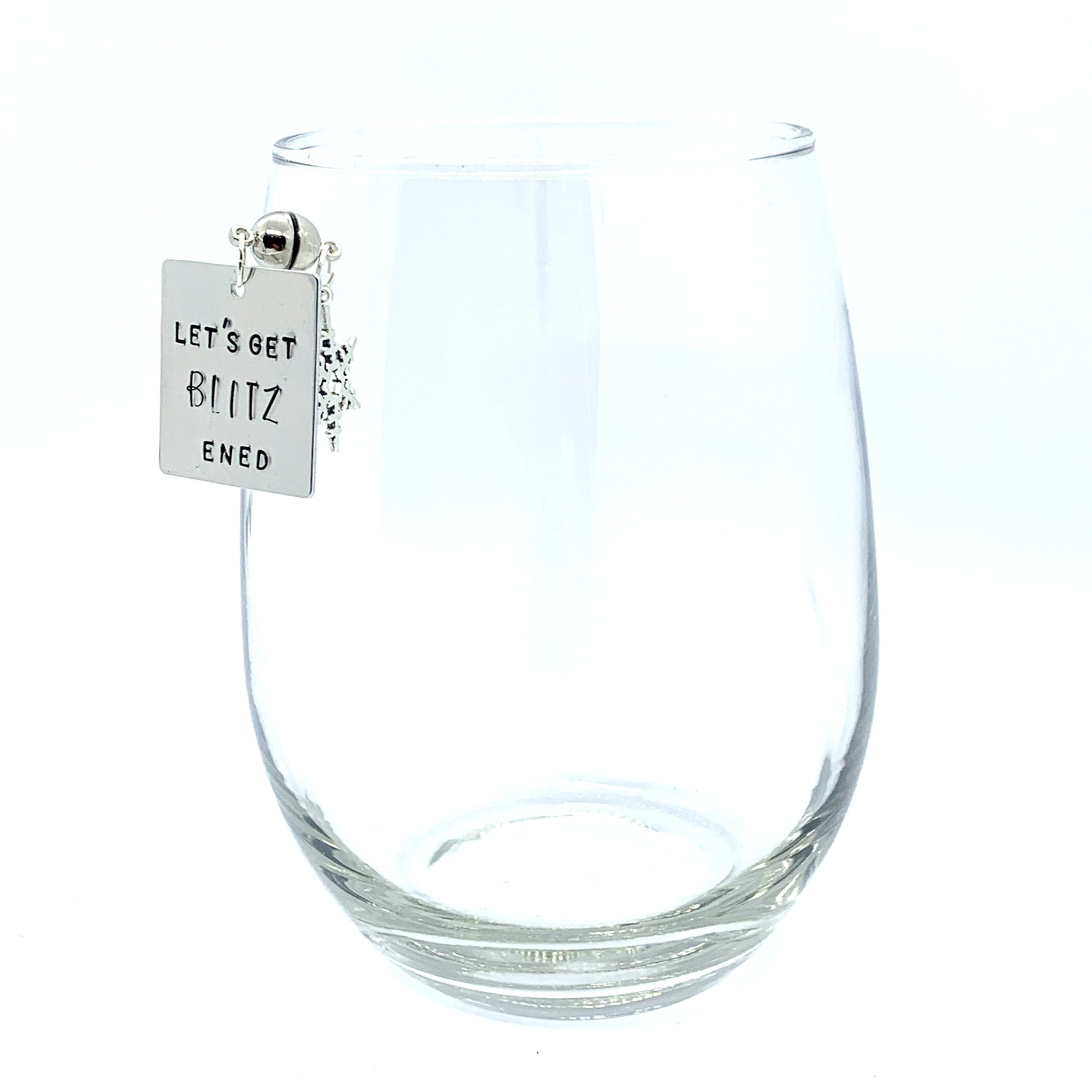 "Stemless Wine Charms - ""Let's Get Xmas"" Set"