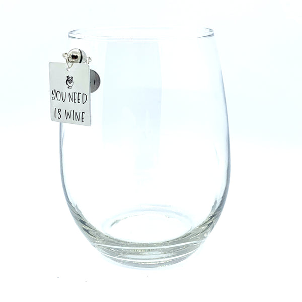 "Stemless Wine Charms - ""Animal"" Set"
