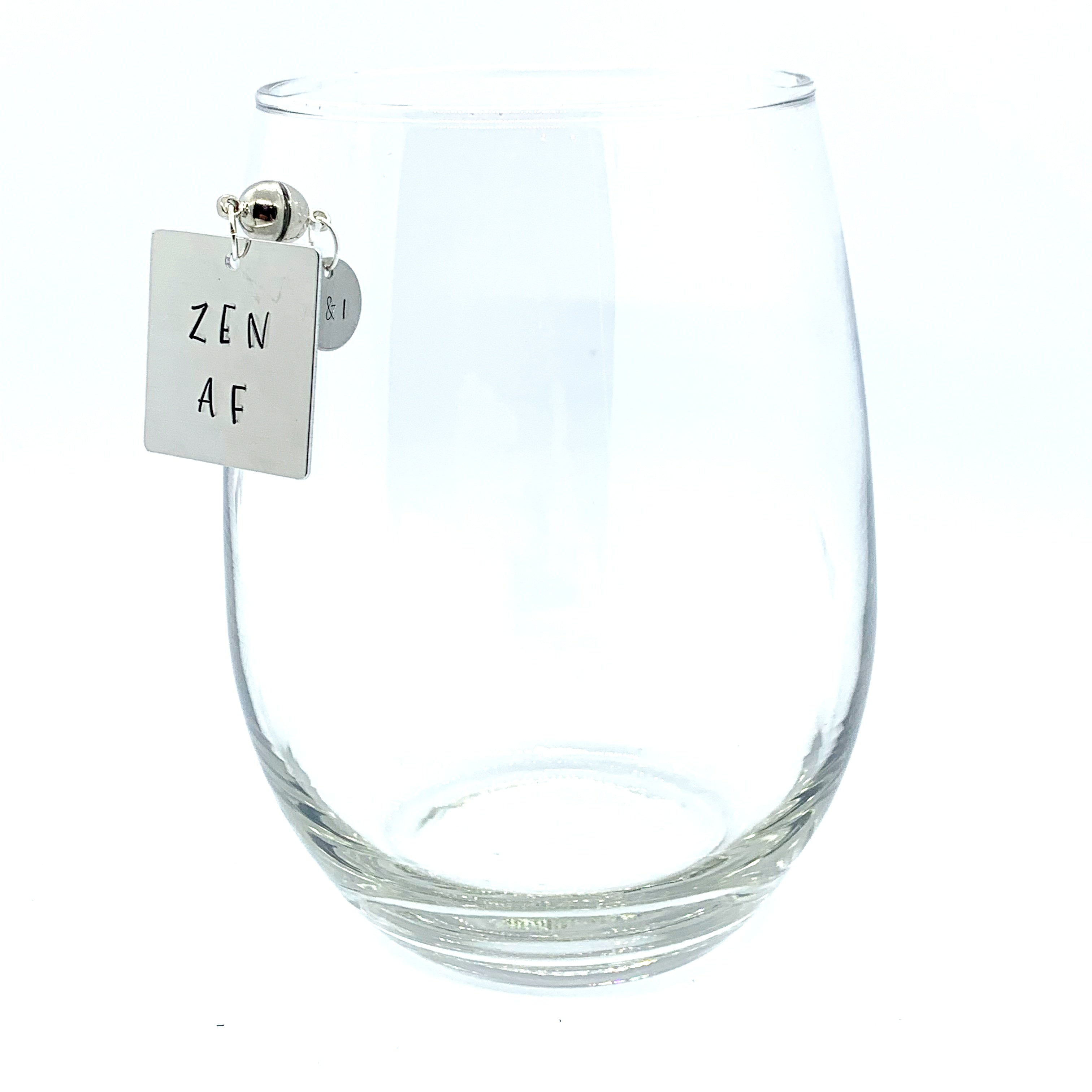 "Stemless Wine Charms - ""AF"" Set"