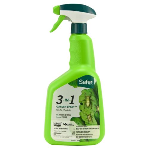 Safer 3-in-1 Garden Spray II RTU Quart (6/Cs)