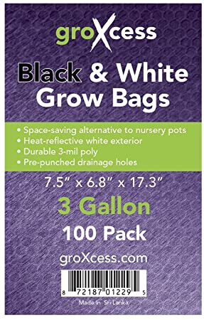 GroXcess Black and White Grow Bags
