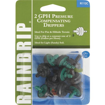 RD R112C 2 GPH Pressure Compensating Irrigation Dripper Green 10 pk.