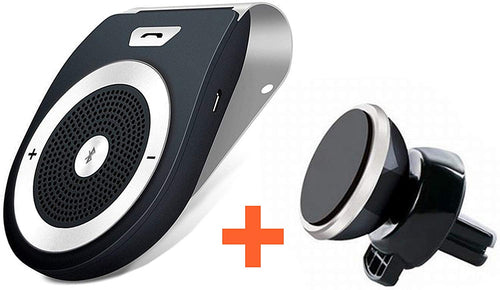 Kit Vivavoce Bluetooth Amplificatore Altoparlante + Supporto Magnetico Da Cruscotto