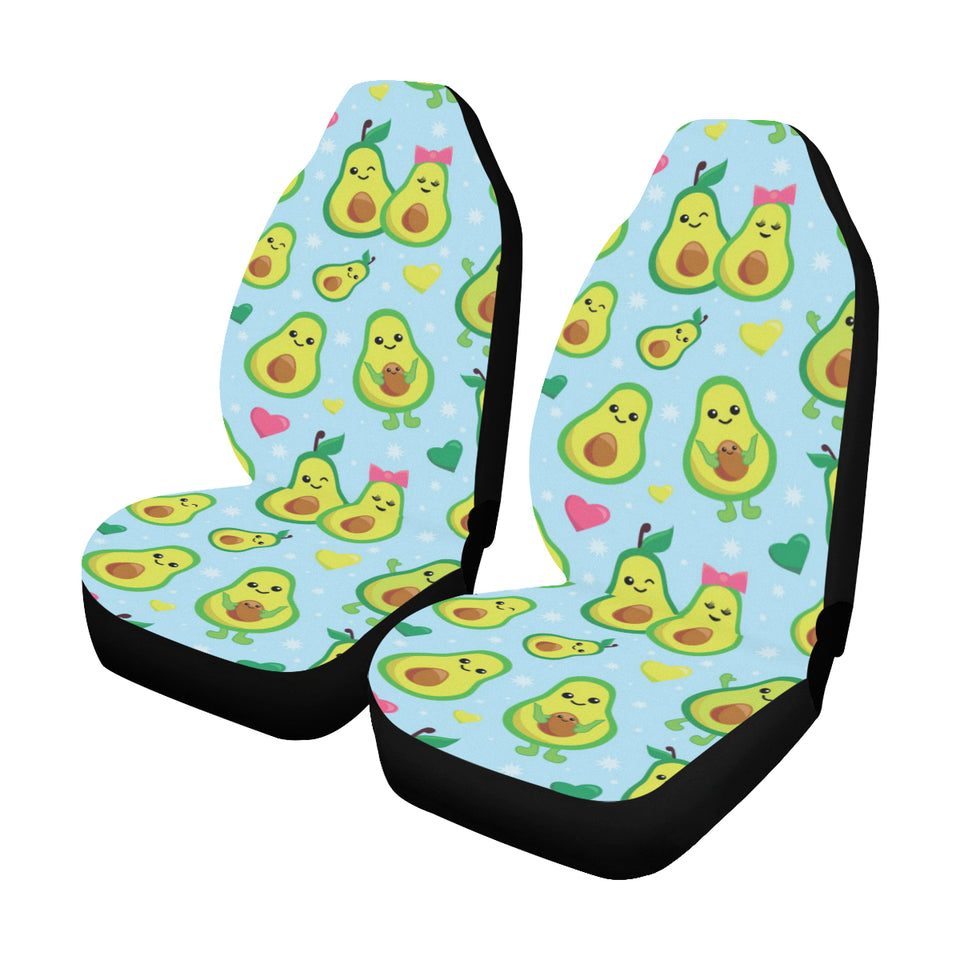 Avocado Pattern Print Design AC09 Universal Fit Car Seat Covers