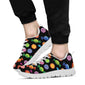 Candy Pattern Print Design 01 Sneakers White