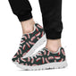 Bacon Pattern Print Design 02 Sneakers White