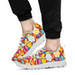 Candy Pattern Print Design 02 Sneakers White