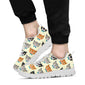 Cat Pattern Print Design 05 Sneakers White