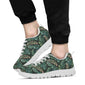 Banana Leaf Pattern Print Design 05 Sneakers White
