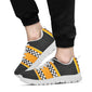 Checkered Pattern Print Design 01 Sneakers White
