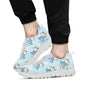 Cattle Happy Pattern Print Design 03 Sneakers White