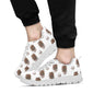 Aztec Wolf Pattern Print Design 02 Sneakers White