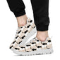Cat Pattern Print Design 04 Sneakers White