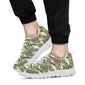 Banana Leaf Pattern Print Design 04 Sneakers White