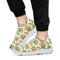 Conures Pattern Print Design 02 Sneakers White