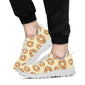 Bagel Pattern Print Design 03 Sneakers White