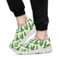 Banana Leaf Pattern Print Design 01 Sneakers White