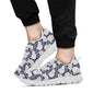 Cat Pattern Print Design 06 Sneakers White
