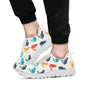 Cat Pattern Print Design 03 Sneakers White