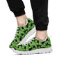 Banana Leaf Pattern Print Design 03 Sneakers White