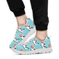Cattle Cute Pattern Print Design 01 Sneakers White