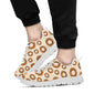 Bagel Pattern Print Design 01 Sneakers White