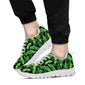 Banana Leaf Pattern Print Design 02 Sneakers White