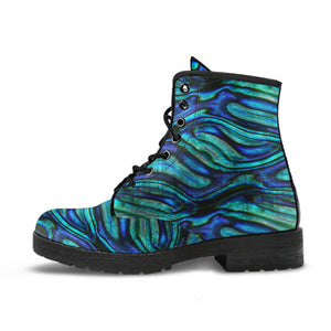Abalone Pattern Print Design 02 Leather Boots
