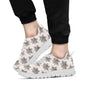 Aztec Wolf Pattern Print Design 01 Sneakers White