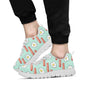 Bacon Sausage Pattern Print Design 01 Sneakers White