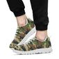 Army Camouflage Pattern Print Design 01 Sneakers White