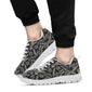 Banana Leaf Pattern Print Design 07 Sneakers White