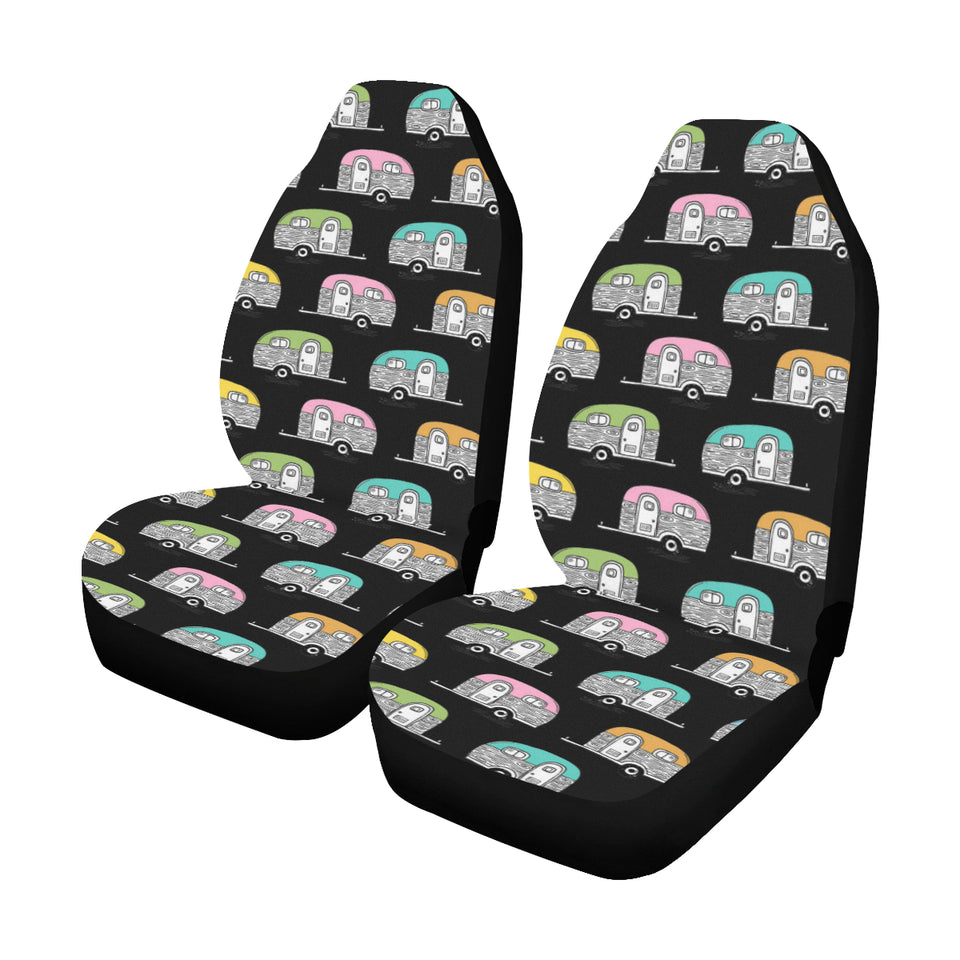 Camper Pattern Camping Themed No 2 Print Universal Fit Car Seat Covers
