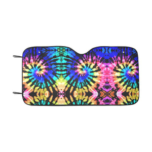 Tie Dye Rainbow Design Print Windshield Car Sun Shade