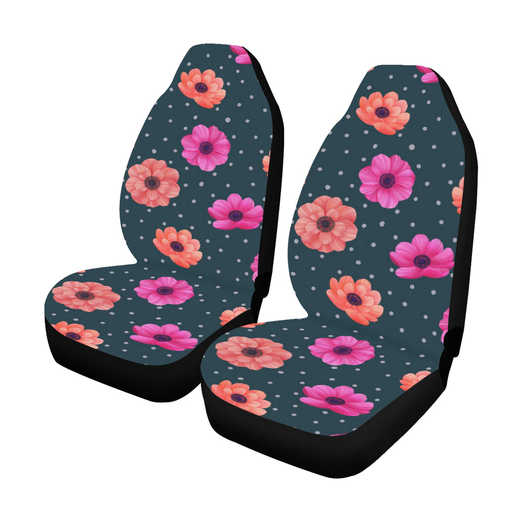 Anemone Pattern Print Design AM08 Universal Fit Car Seat Covers