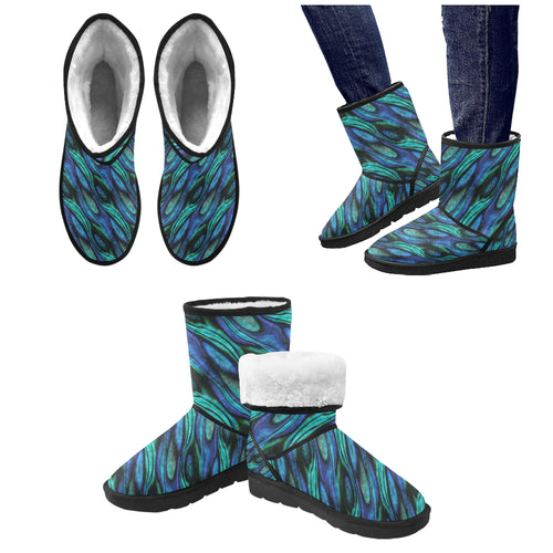 Abalone Pattern Print Design 03 Women's Snow Boots