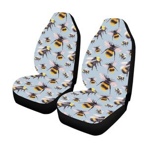 Bee Pattern Print Design BEE08 Universal Fit Car Seat Covers