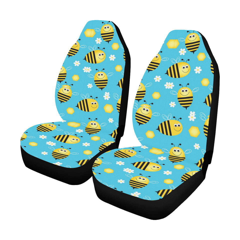 Bee Pattern Print Design BEE06 Universal Fit Car Seat Covers