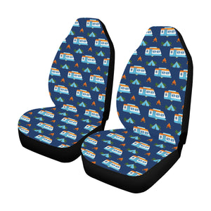 Camper Pattern Camping Themed No 3 Print Universal Fit Car Seat Covers