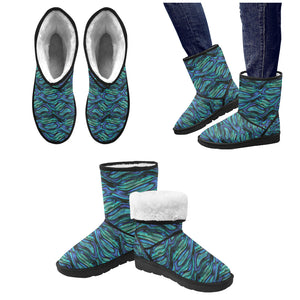 Abalone Pattern Print Design 02 Women's Snow Boots