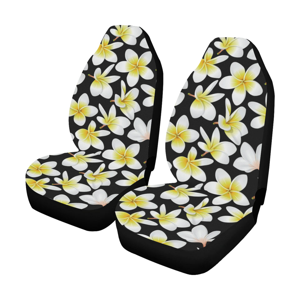 Yellow Plumeria Hawaiian Flowers Universal Fit Car Seat Covers