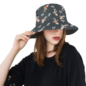 KOI Fish Pattern Print Design 04 Unisex Bucket Hat