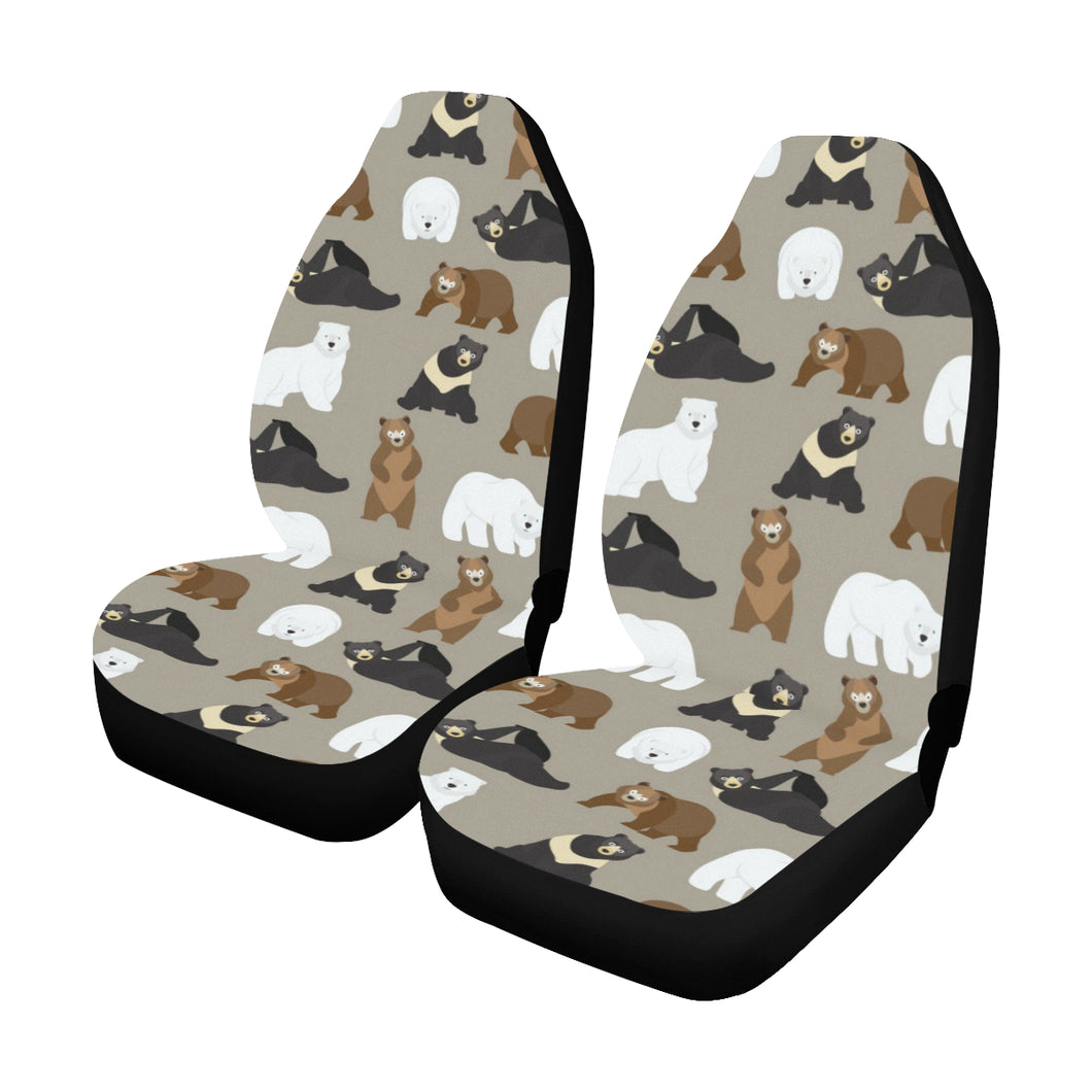 Bear Pattern Print Design BE03 Universal Fit Car Seat Covers
