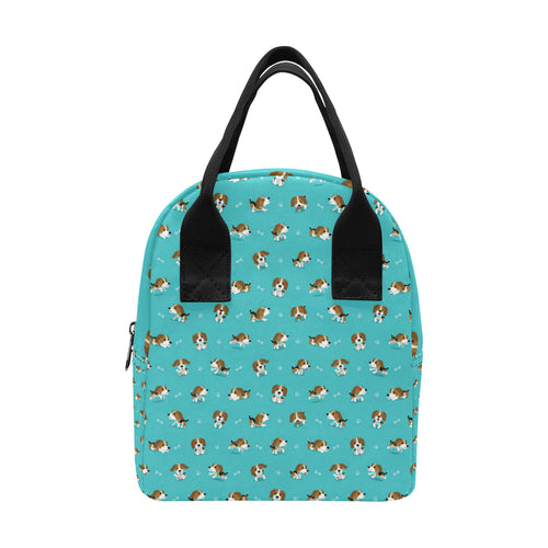 Beagle Pattern Print Design 05 Insulated Lunch Bag