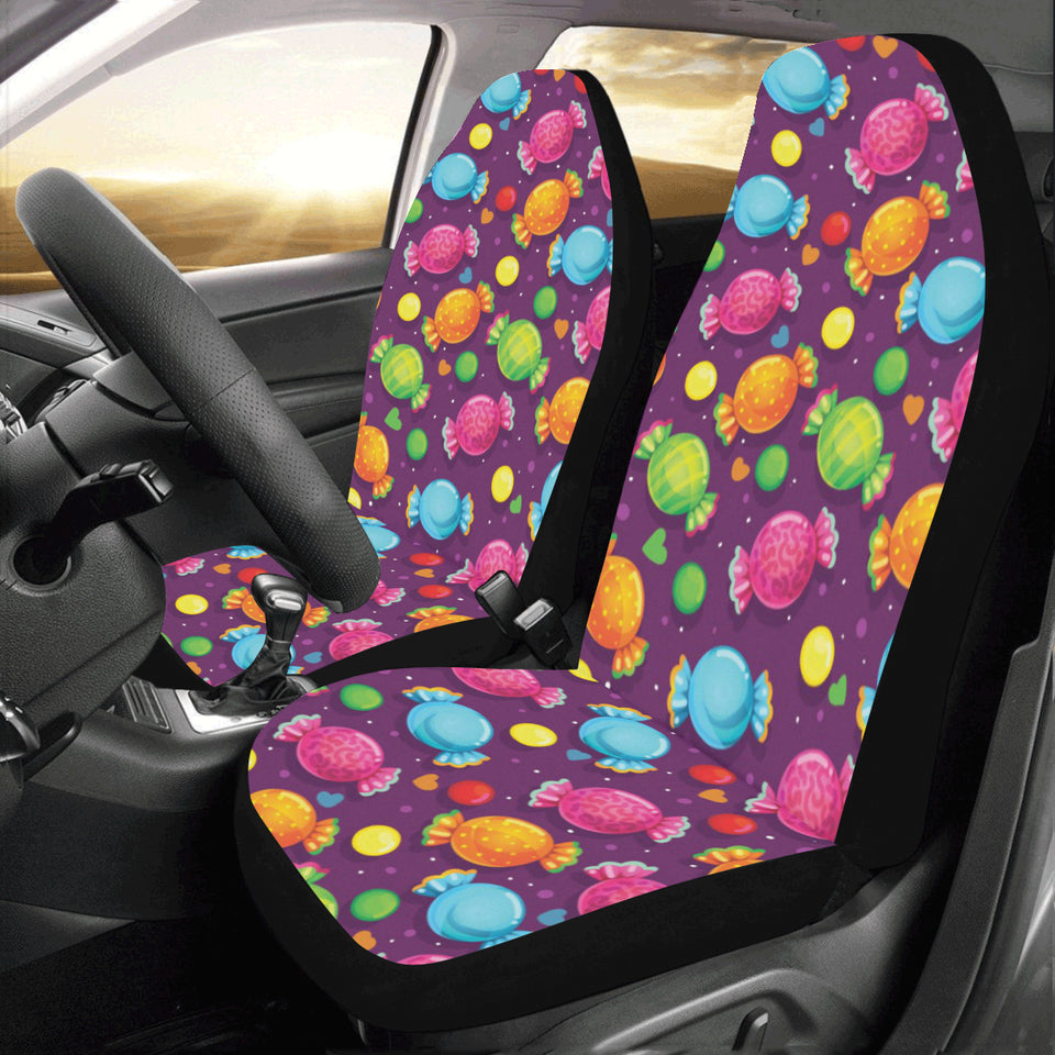 Candy Pattern Print Design CA05 Universal Fit Car Seat Covers