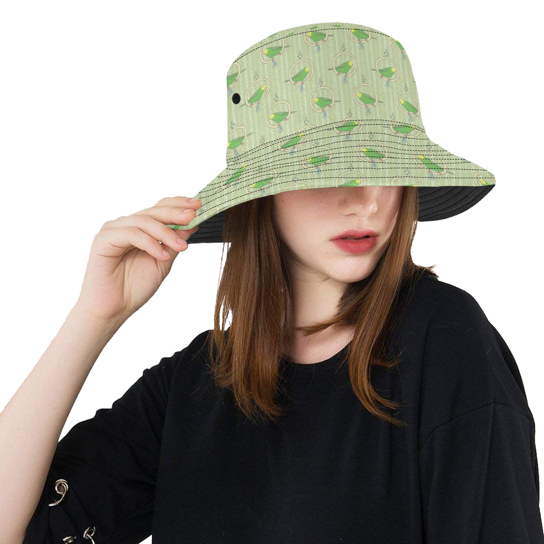 Budgerigar Pattern Print Design 02 Unisex Bucket Hat