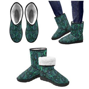 Abalone Pattern Print Design 01 Women's Snow Boots