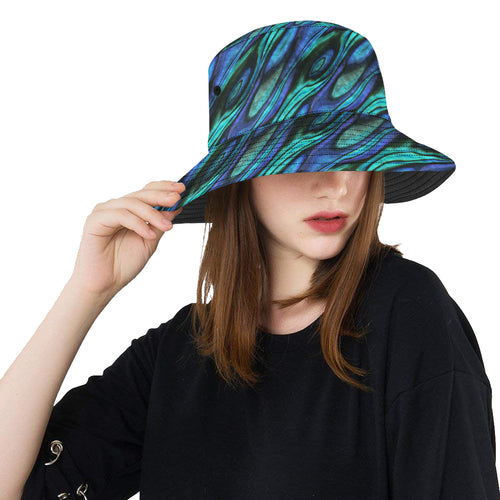 Abalone Pattern Print Design 03 Unisex Bucket Hat